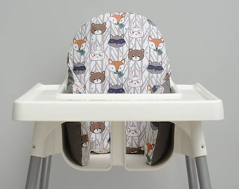 Woodland Nursery Decor, IKEA High Chair Cover, IKEA Antilop Cover, Highchair Cover, High Chair Insert, High chair Cushion, First Birthday