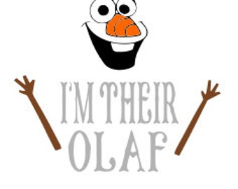 disney, her anna, her elsa, im their olaf, matching shirts, family frozen shirts cricut, SVG, silhouette, printable, instant download