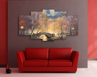 Central park art on canvas