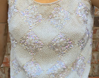Sequin 1950's Vintage Crop Top