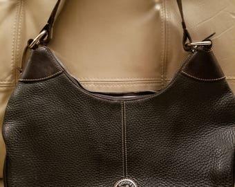 Vintage Dooney Bourke Black Pebbled Leather Handbag