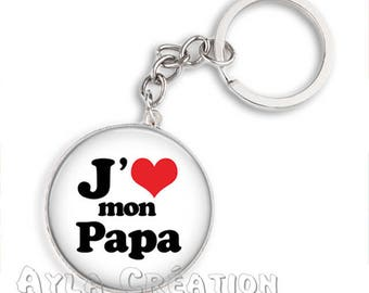 Cabochons glass 25mm #PA_BP11 dad keychain