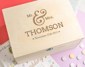 Wedding Keepsake Box Wedding Memory Box Personalized