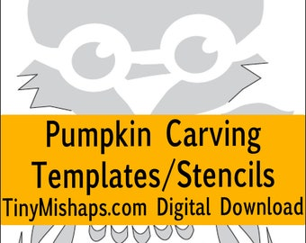 Spidery webs pumpkin carving stencil template pack print at birdy and owl pumpkin carving stencil template pack 12 stencils maxwellsz