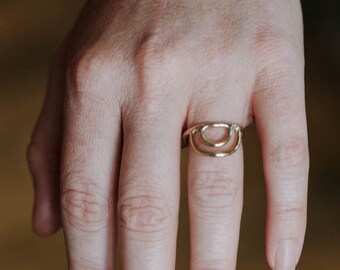 Double Half Circle Ring