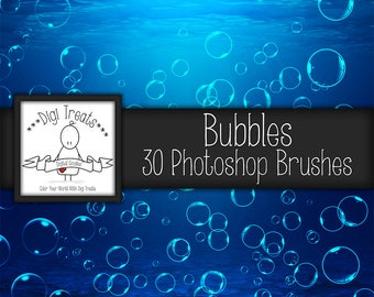 20% OFF Bubble Photoshop Brush Set (30 brushes) High Quality ~ Instant Download.