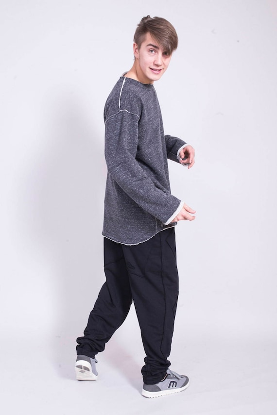 Black trousers man trousers man High sweatpants quality Black Man for joggers black pants pants Man cotton Black w1qqUB