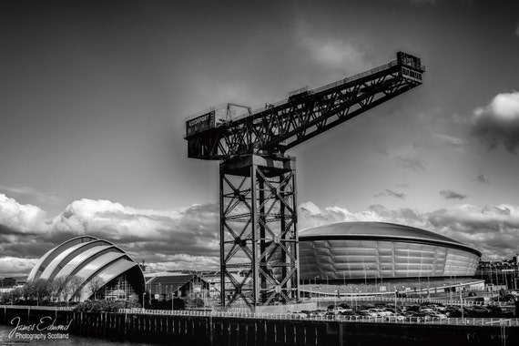 Glasgow, Glasgow print, Scotland, Monochrome, fine art photography, scottish photography, wall art, wall decor, landscape, city photography