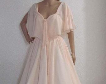 Ready to Ship. Josephine - Retro Style Tea Length Wedding Dress.