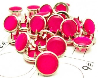 24 Cowgirl rose chaud s'accroche perle Prong Snaps ouest