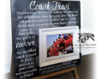 Soccer Coach Gift, Soccer Gifts, Coach Thank You Gift, Soccer Senior Gifts, Coach Frame, 16x16 The Sugared Plums Frames