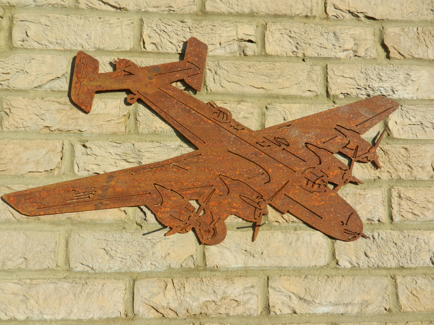 RAF Halifax Rusty Wall Art / Handley Page Halifax Plane Gift /