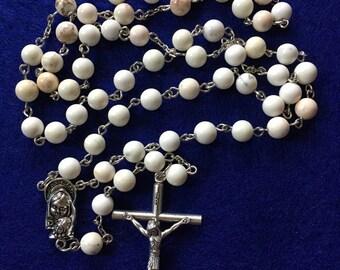 White Howlite Rosary