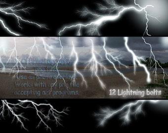 Lightning Bolt set of 12 png files