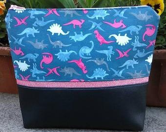 Dinosaur cosmetic bag