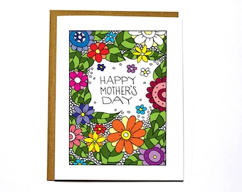 Mother's Day card - Flowers, Happy Mother's Day, sweet