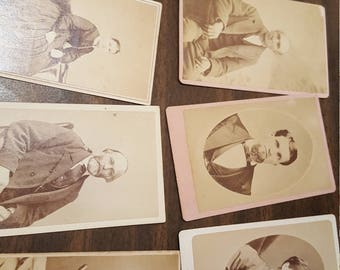 Lot of 12 Victorian Vintage CVD Photography Photo of Variety of Gentlemen & Ladies