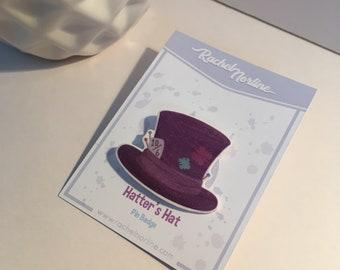 Mad Hatter's Hat (Alice in Wonderland) Pin Badge