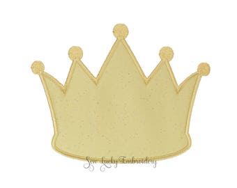 Princess Crown Applique Embroidered Patch, Sew or Iron on