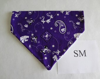 Kansas State Wildcats- dog bandana- over the collar- SM