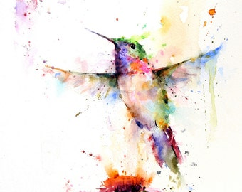 HUMMINGBIRD Decorative Tile By Dean Crouser
