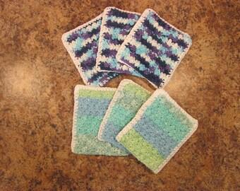 Textured Cotton Hand-Mitt  Exfoliating Scrubby