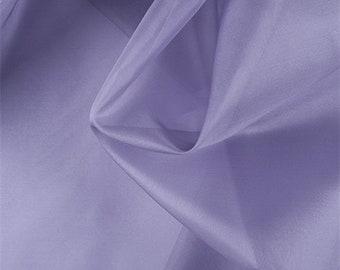 Amethyst Silk Organza, Fabric By The Yard