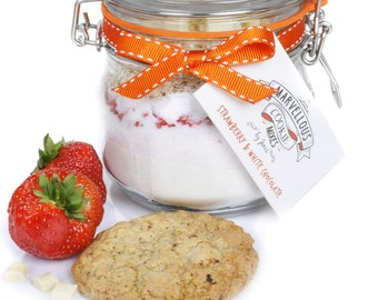 Strawberry & White Chocolate Cookie Mix - Bake at home