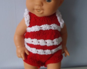 Knitted dolls Beach Outifit