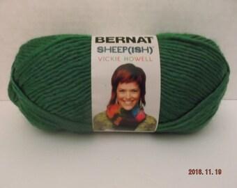Bernat Sheepish Yarn ~ Emerald(ish) ~ Wool Blend ~ #4 Medium ~ 85 grams/2.4 ounces ~ 137 yards