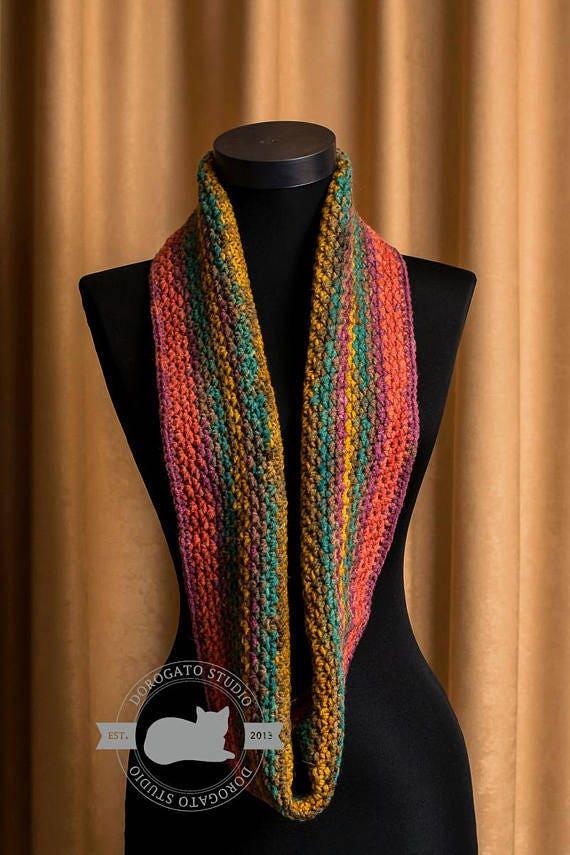 Easy Crochet Scarf Pattern Pdf Pattern Beginner Crochet