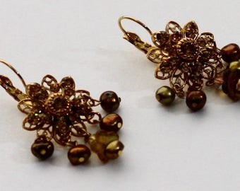 Kirks Folly Autumn Tone Dangle Earrings