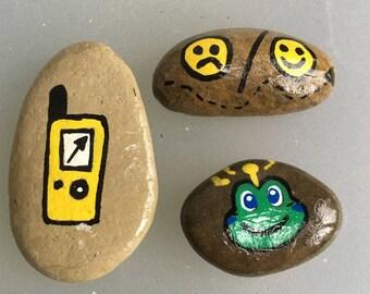 Set of 3 Geocache stones