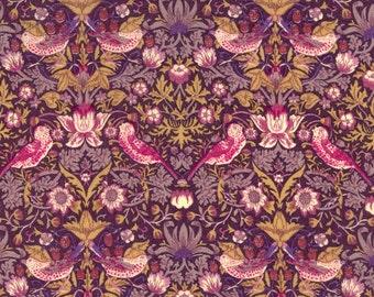 Liberty of London Strawberry Thief G Purple Tana Lawn Fabric One yard