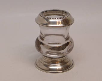 Frank M Whiting Sterling Toothpick Holder