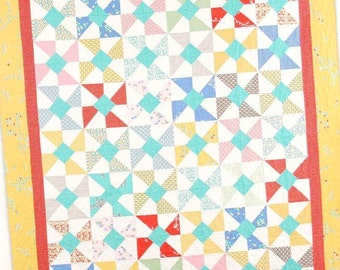 Swirly Pop Quilt Pattern #114 by Cluck Cluck Sew - Charm Pack Friendly - Super Fast Beginner (W1425)