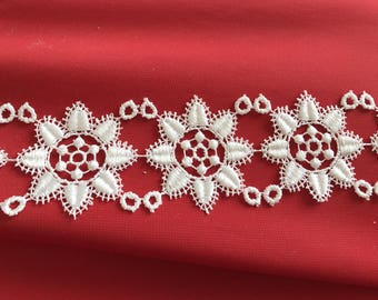 Lace with silk 5.5 cm width