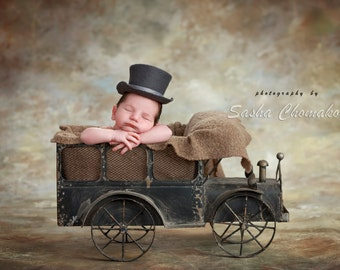 Digital backdrop background vintage track newborn by boy brown