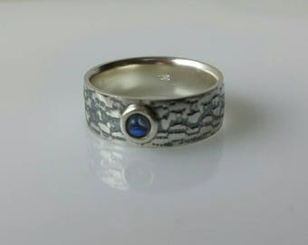 Moonstone silver lace band ring MADE TO ORDER