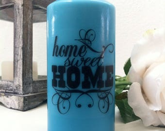 "Decorative candle ""Home sweet Home""."
