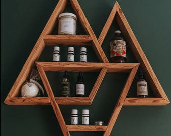 Double Peak Geometric Shelf - Made To Order