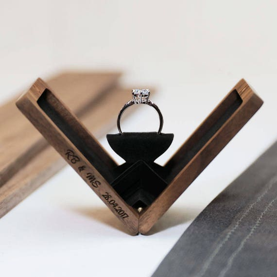 Superb Thin Engagement Ring Box Wedding Ring Box Anniversary Gift