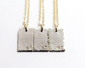 Personalized Sister Gift, Jewelry Gift Set Sisters Necklace Set Daughter Gift Sister Jewelry Custom Name Jewelry, Gold Personalized Necklace