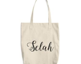 Selah - Cotton Tote Bag - Canvas Tote Bag - Market Bag - Book Bag