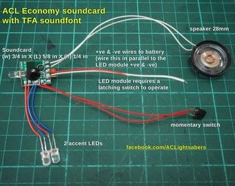 ACL Economy soundcards for lightsabers