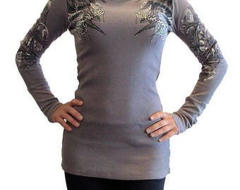 Filigree Cross with Wings Light Weight Shirt