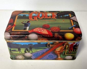 Golf Tin Can Storage Box