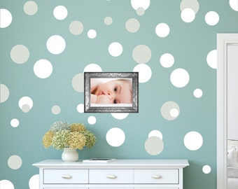 Dots Decals Polka Dots WAll Decals, Large Peel And Stick Dots Bedroom Polka  Dot Wall