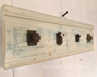Handmade Vintage Hardware Hanging Rack