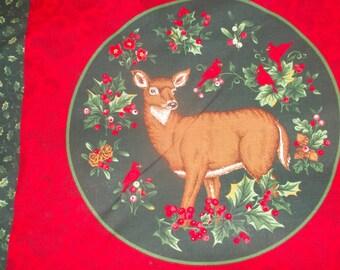 Christmas Woods Pillow Panel Fabric - 1/2 Yard